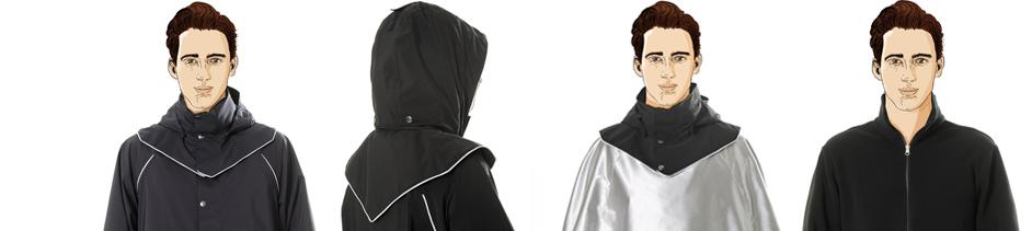 vêtements de pluie pour cycliste